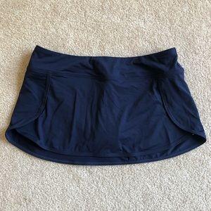 NWT Athleta Navy Kata swim skirt size Small